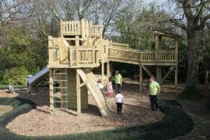 Climbing Frame, Country Park, Playground, Natural Play