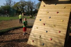 Climbing Wall. Country Park, Playground