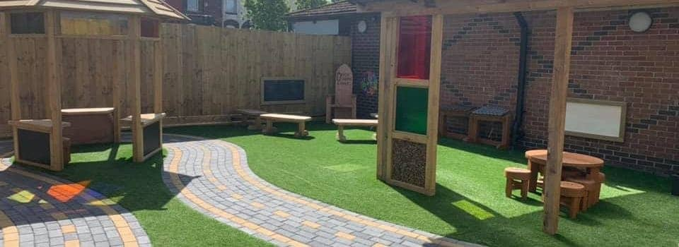 Nursery Playspace- new role play tracks, rainbow posts, surfacing