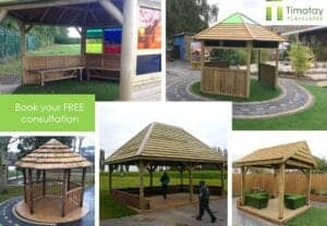 Outdoor classroom, outdoor shelter for school