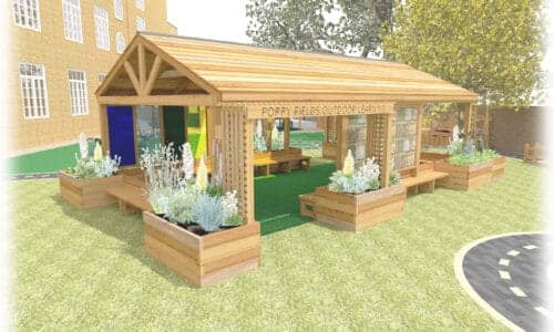 Outdoor classroom for schools and SEND settings