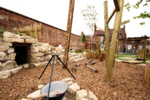 Forest school area early years