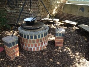 Fire pit forest school