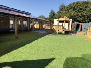 Infant school artificial grass