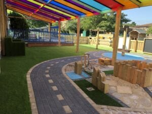 Infant school playground