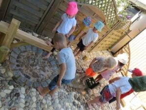 children waterplay