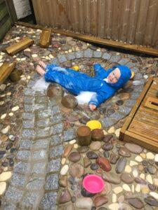 pre-schooler water play